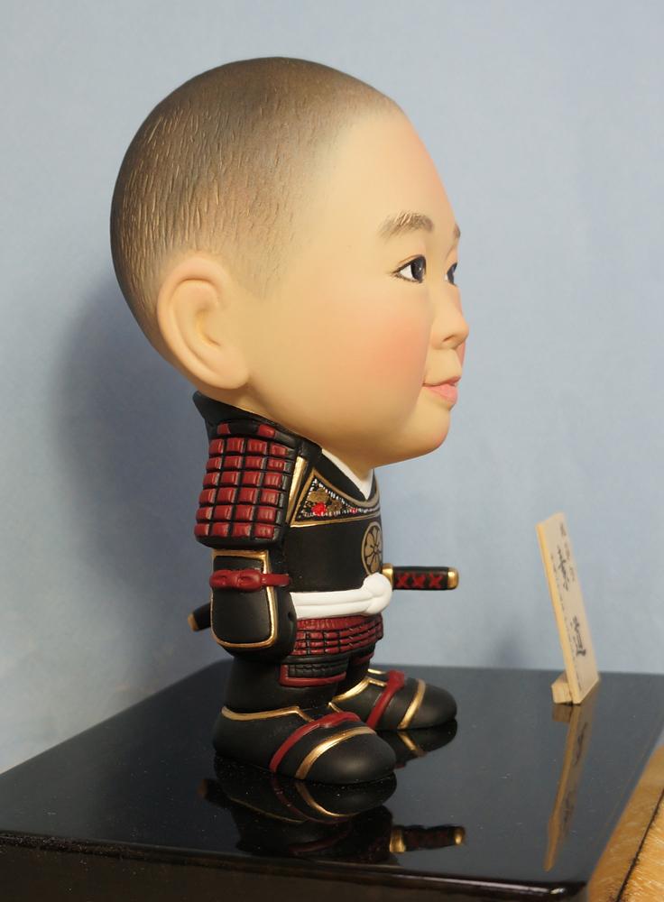 ご兄弟揃っての節句人形!!坊主あたまの可愛い武者鎧姿-そっくり人形参考作品例-59-3