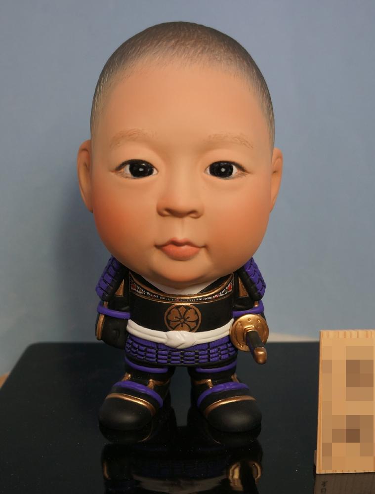ご兄弟揃っての節句人形!!坊主あたまの可愛い武者鎧姿-そっくり人形参考作品例-59-5