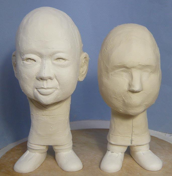 ご兄弟揃っての節句人形!!坊主あたまの可愛い武者鎧姿の制作過程-16