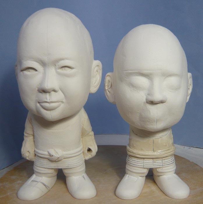 ご兄弟揃っての節句人形!!坊主あたまの可愛い武者鎧姿の制作過程-25