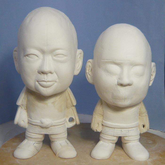 ご兄弟揃っての節句人形!!坊主あたまの可愛い武者鎧姿の制作過程-28