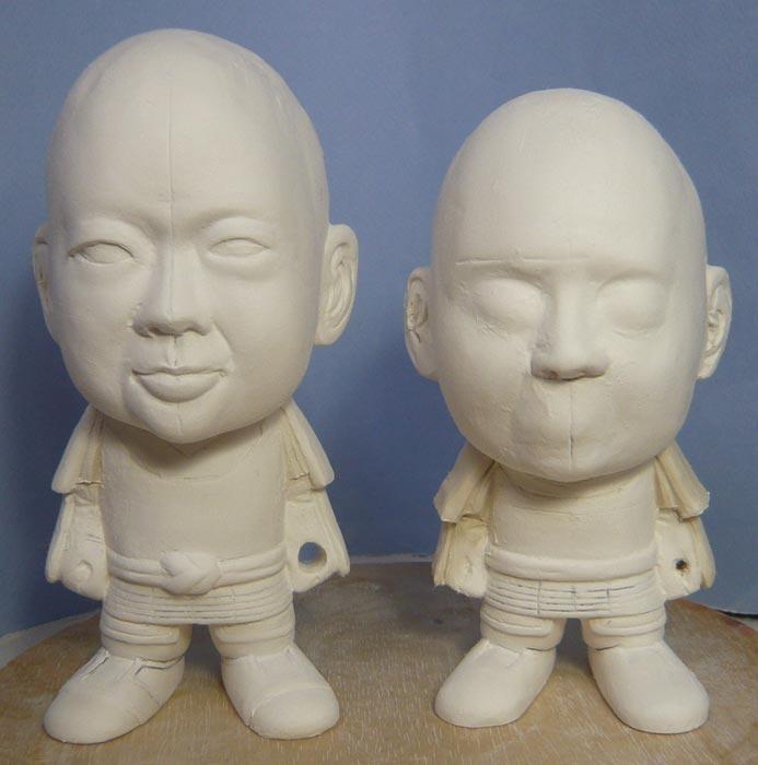 ご兄弟揃っての節句人形!!坊主あたまの可愛い武者鎧姿の制作過程-29