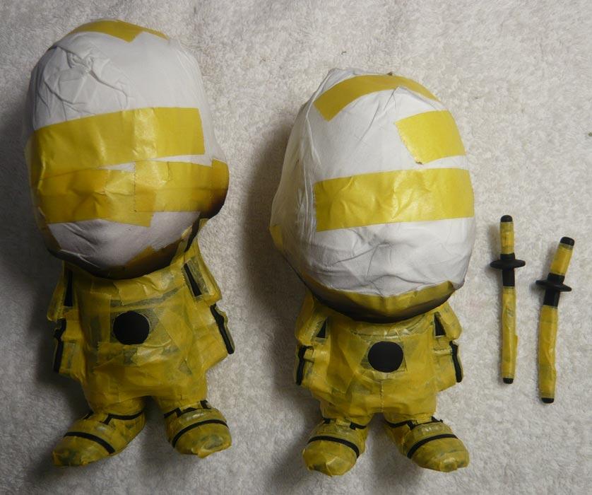 ご兄弟揃っての節句人形!!坊主あたまの可愛い武者鎧姿の制作過程-58