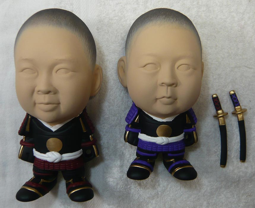 ご兄弟揃っての節句人形!!坊主あたまの可愛い武者鎧姿の制作過程-60