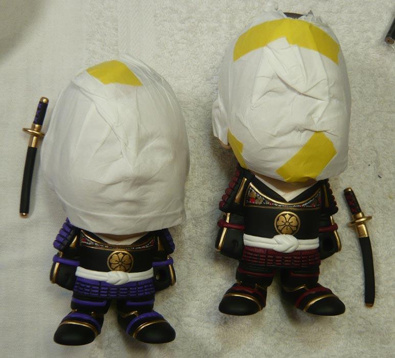 ご兄弟揃っての節句人形!!坊主あたまの可愛い武者鎧姿の制作過程-61