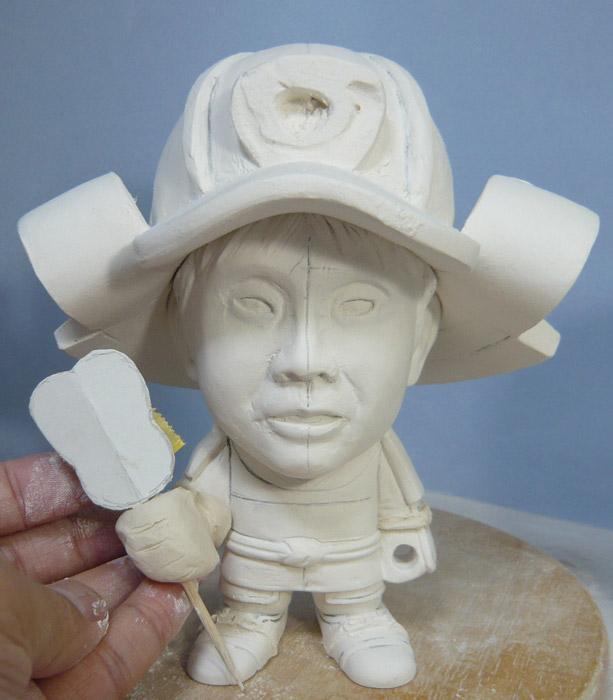 句人形!!かわいい鎧姿の制作過程-31