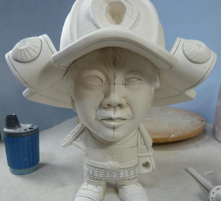 句人形!!かわいい鎧姿の制作過程-37
