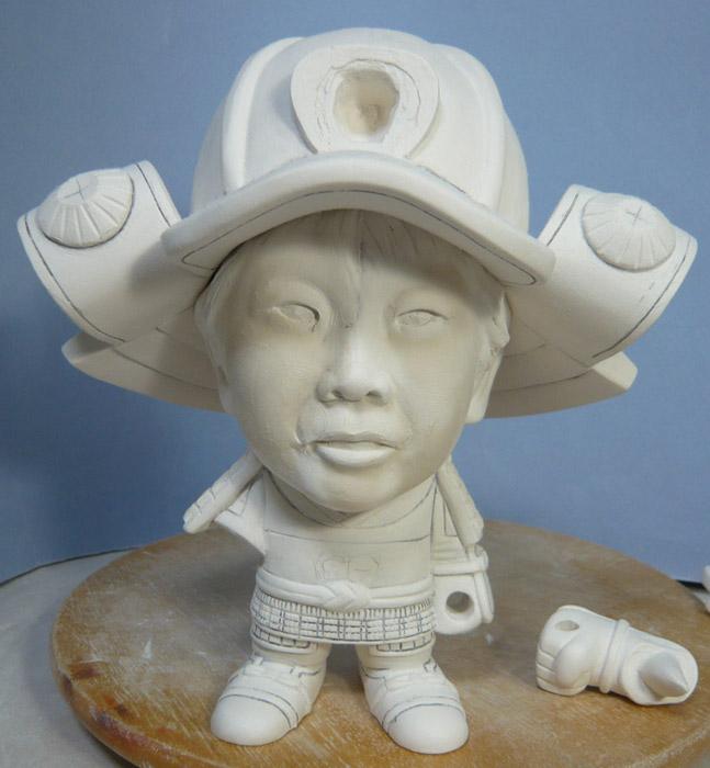 句人形!!かわいい鎧姿の制作過程-38