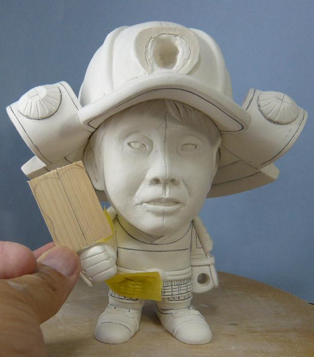 句人形!!かわいい鎧姿の制作過程-43