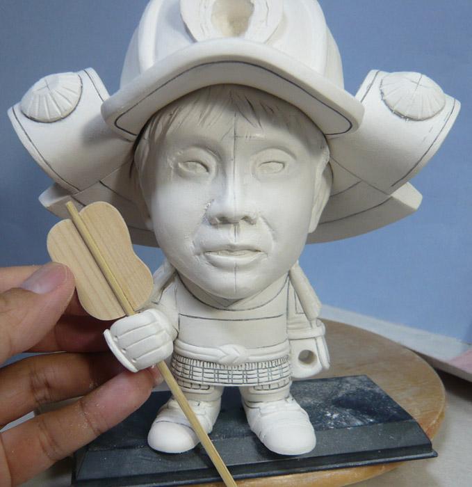 句人形!!かわいい鎧姿の制作過程-46
