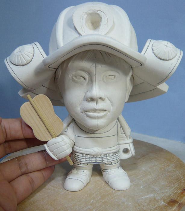 句人形!!かわいい鎧姿の制作過程-47