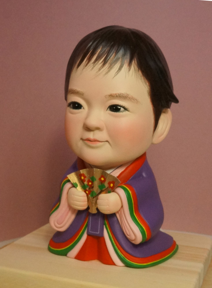 ひな人形(初節句)十二単(じゅうにひとえ)-そっくり人形参考作品例-61-3