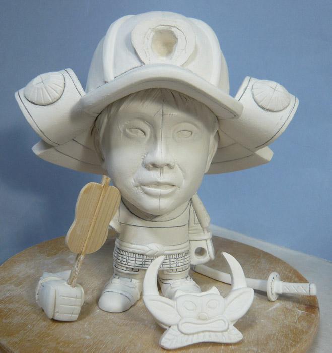 句人形!!かわいい鎧姿の制作過程-48