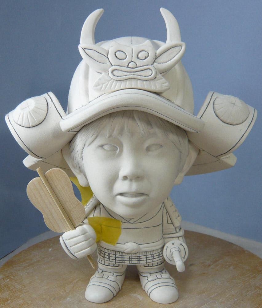句人形!!かわいい鎧姿の制作過程-53