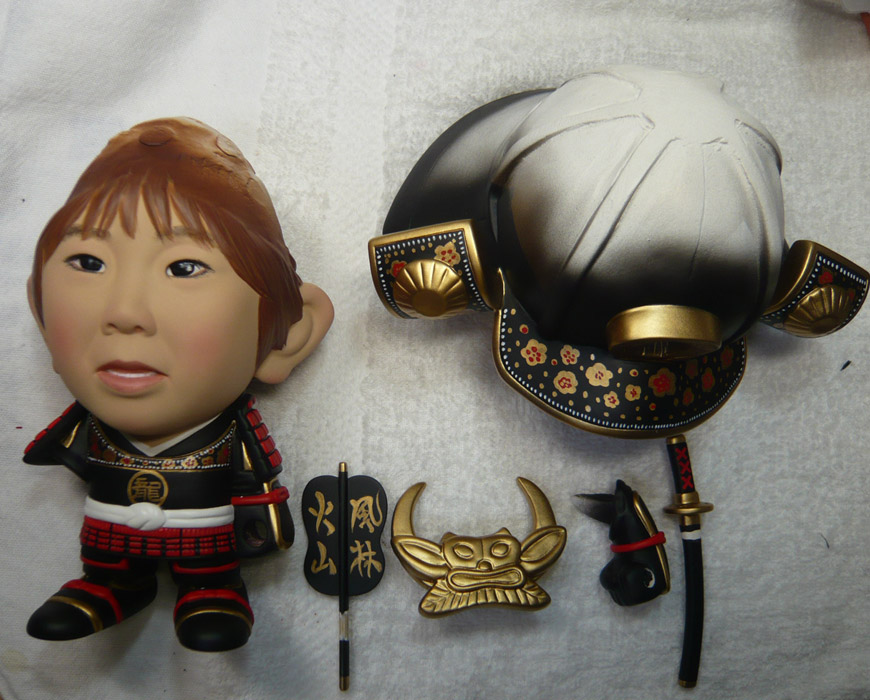 句人形!!かわいい鎧姿の制作過程-63